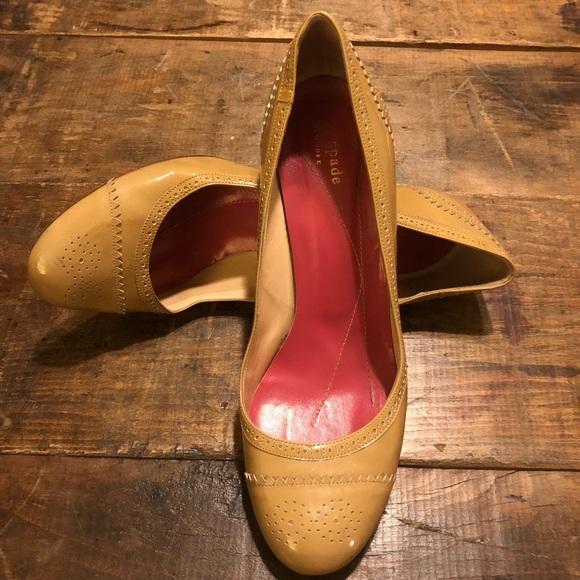"1aee0a39c040 kate spade Shoes - KATE SPADE Nude Patent ""Karolina"" Heels- Sz  9"